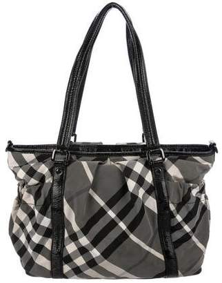 Burberry Beat Check Diaper Bag