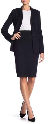 St. John Santana Wool Blend Pull On Skirt