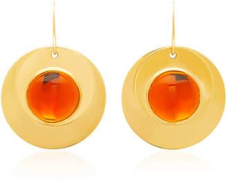 Loulou de la Falaise 24K Gold-Plated Crystal Earrings