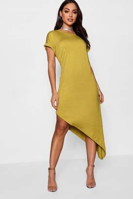 boohoo Maya Asymmetric T-Shirt Midi Dress