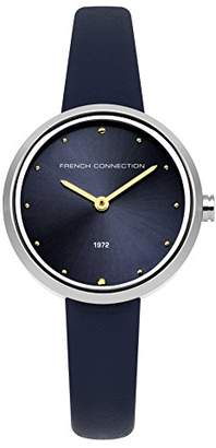 French Connection Women's Quartz Metal and Leather Casual Watch