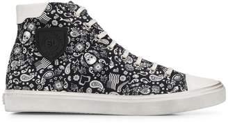 Saint Laurent Bedford skull print sneakers