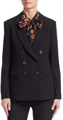 Emporio Armani Wool Double-Breasted Blazer