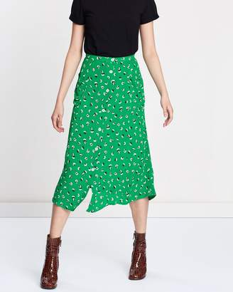 Miss Selfridge Floral Split Skirt