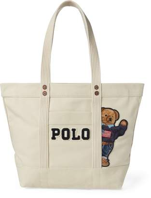 Ralph Lauren Canvas Polo Bear Tote Bag