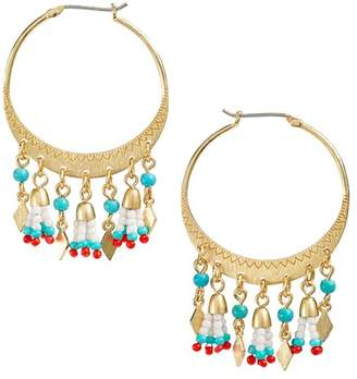 Rebecca Minkoff Luna Beaded Hoop Earrings