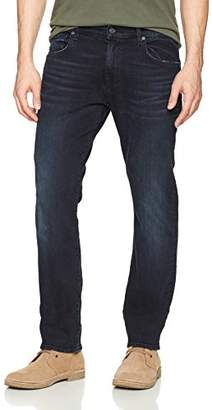 7 For All Mankind Men's Tapererd Straight Lux Performance Sateen Pants
