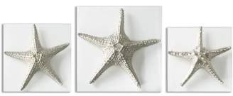 Uttermost Silver Starfish Wall Art, Set of 3