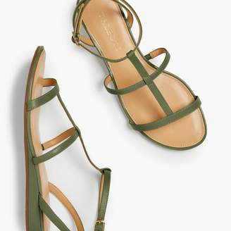 Talbots Daisy Gladiator Micro-Wedge Sandals - Nappa Leather