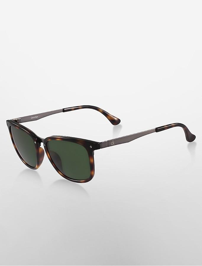 Calvin KleinPlatinum Rectangle Sunglasses