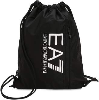 Emporio Armani Ea7 Train Prime Nylon Drawstring Backpack