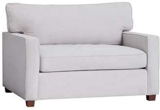 Pottery Barn Teen Chair + Sleeper, Linen Blend Gray