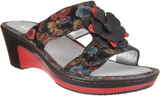 4f1db48c4256 Alegria Leather Wedge Sandals w Flower Detail - Lana