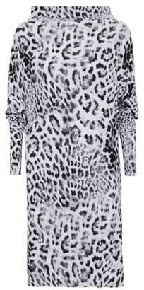 Norma Kamali All In One Convertible Leopard-Print Neoprene Dress