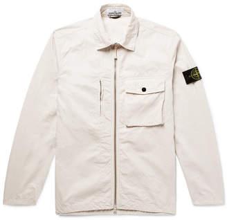 Stone Island Logo-Appliquéd Cotton-Shell Jacket