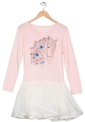Billieblush Long Sleeve Mini Dress