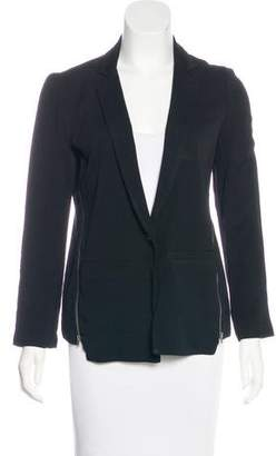 Ella Moss Zip-Accented Long Sleeve Blazer