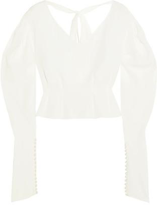 Magda Butrym - Lucena Embellished Silk Crepe De Chine Blouse - White