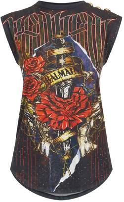 Balmain Sleeveless Printed T-Shirt