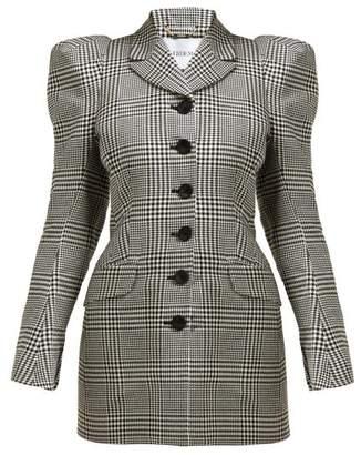 Erdem Alfreda Single Breasted Cotton Blend Blazer - Womens - Black White