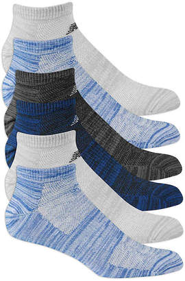 New Balance Stripe No Show Socks - 6 Pack - Men's