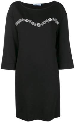 Blumarine crystal embellished dress