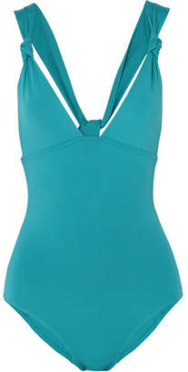 Eres Poker Prime Knotted Swimsuit - Turquoise