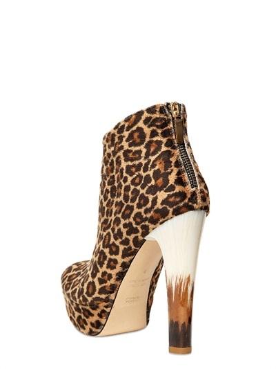 Chiara Ferragni 130mm Leopard Printed Ankle Boots