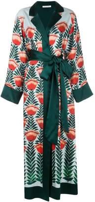 Oscar de la Renta tulip printed wrap dress