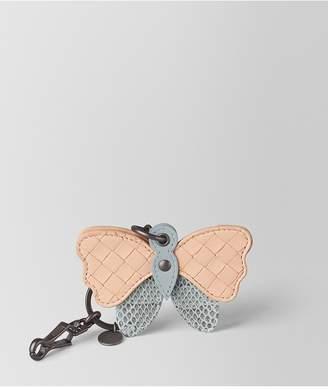 Bottega Veneta Arctic Ayers/Peach Rose Intrecciato Nappa Charm