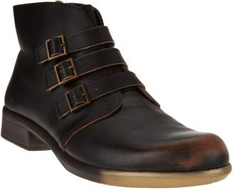Naot Footwear Leather Ankle Boots w/ Buckle Detail - Calima