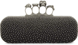 Alexander McQueen Leather studded knuckleduster clutch