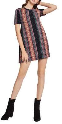 BCBGeneration Striped Back Yoke A-Line Dress