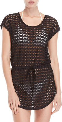 Jordan Taylor Lace Cover-Up Drawstring Tunic