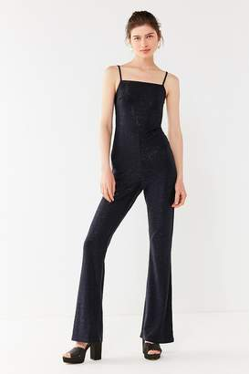 Urban Outfitters Iris Square-Neck Glitter Jumpsuit