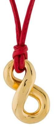 Faraone Mennella 18K Capri Girl Infinity Pendant Cord Necklace