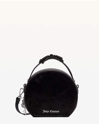 Juicy Couture Burnett Black Suede Round Crossbody Bag