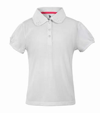 U.S. Polo Assn. USPA Short-Sleeve Knit Polo - Preschool Girls 4-6x