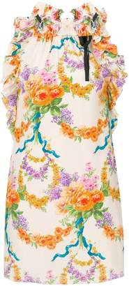 Gucci floral ruffled dress