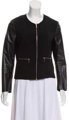 Cédric Charlier Collarless Zip-Up Jacket