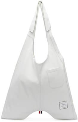 Thom Browne White Trompe LOeil Classic Shirt Bag