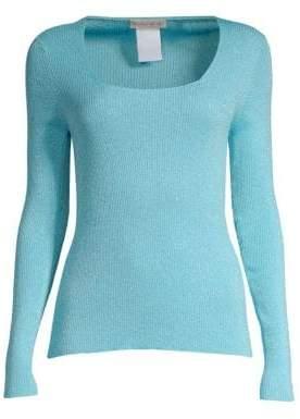 Etro Lurex Wool-Blend Ribbed Sweater