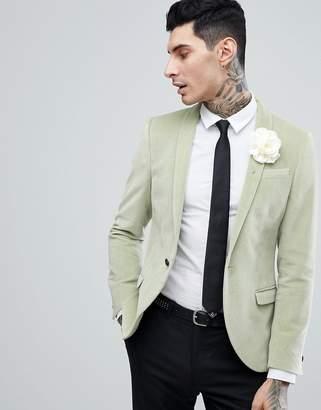 Noose & Monkey super skinny blazer in velvet