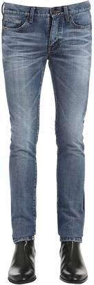 Saint Laurent 15.5cm Tuxedo Cotton Denim Jeans