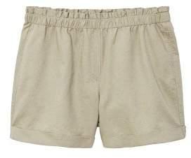Violeta BY MANGO Cotton linen-blend shorts