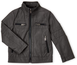 Urban Republic Boys 4-7) Charcoal Perforated Moto Jacket