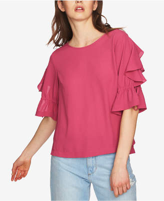 1 STATE 1.state Ruffled Tie-Sleeve Top