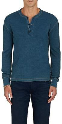 RRL Men's Thermal-Knit Cotton Henley