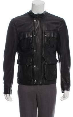 Belstaff Leather Utility Jacket