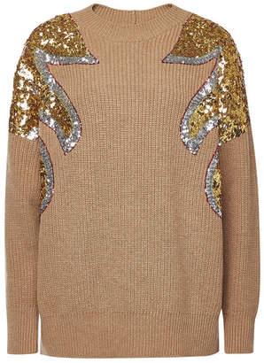 N°21 N21 Virgin Wool Pullover with Sequins